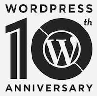 WordPress 10th Anniversary logo