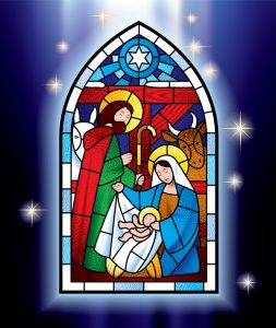 Christmas stained glass window
