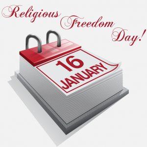 Calendar 16 January Religious Freedom Day