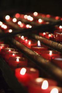 Church candles.