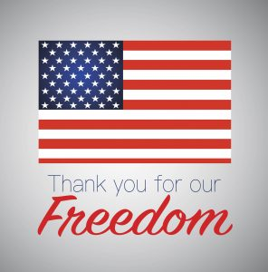 Thank you for freedom.